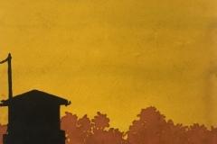 Cabine sauveteurs silhouette
