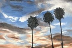 Palmiers sunset